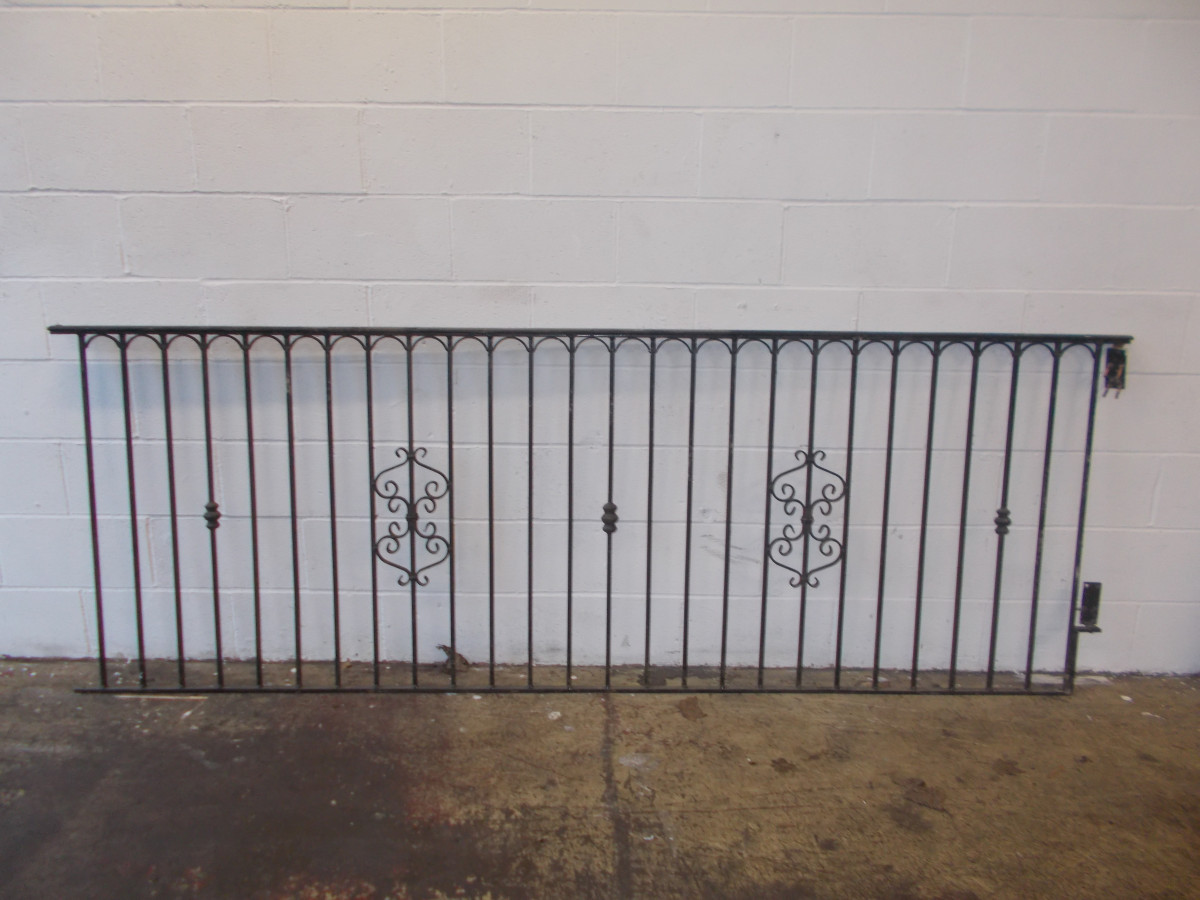 wrought iron fence victorian. 40 Ft Job Lot Reclaimed Wrought Iron Railings Fencing Fence Victorian